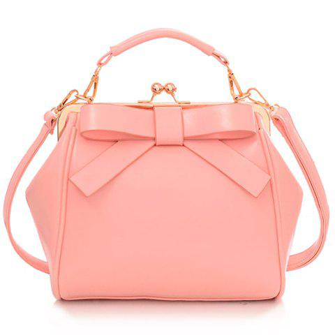 Gorgeous Bowknot and Metallic Design Crossbody Bag For Women