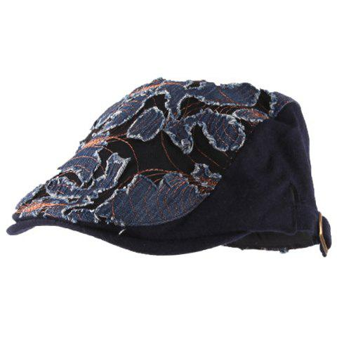 Chic Rag and Line Embellished Color Block Women's Visor - AS THE PICTURE