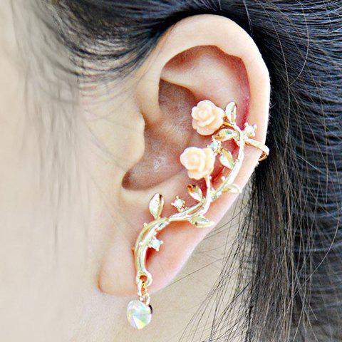 ONE PIECE Sweet Cute Women's Rhinestone Flower Ear Cuff one piece stylish women s rhinestone cross ear cuff