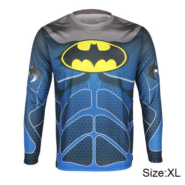 Arsuxeo Batman Style Thermal Transfer Cycling Jersey Bike Bicycle Running Long Sleeve Clothes for Male actionclub mens winter cycling jerseys sets straps cycling suit long sleeve bicycle bike clothing male breathable running set