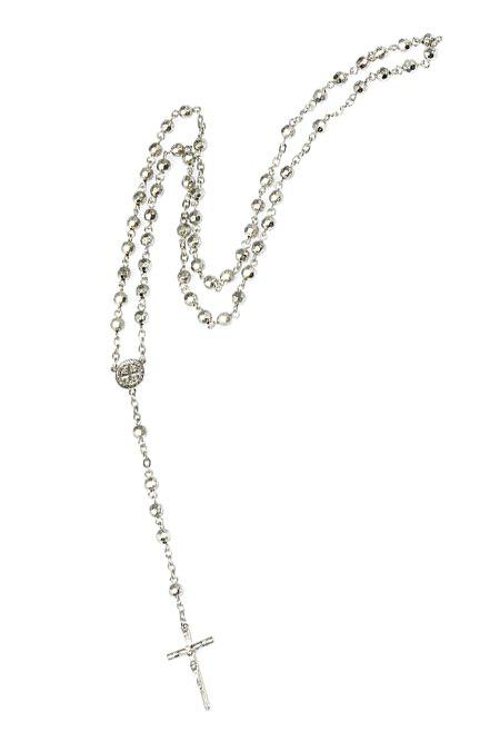 Chic Cross Pendant Sweater Chain Necklace - WHITE GOLDEN