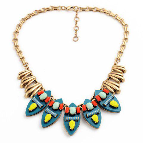 Elegant Bohemian Style Faux Gem Waterdrop Necklace For Women - AS THE PICTURE