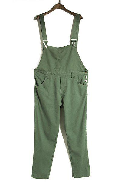Simple Solid Color Loose Overalls For Women - GREEN ONE SIZE(FIT SIZE XS TO M)