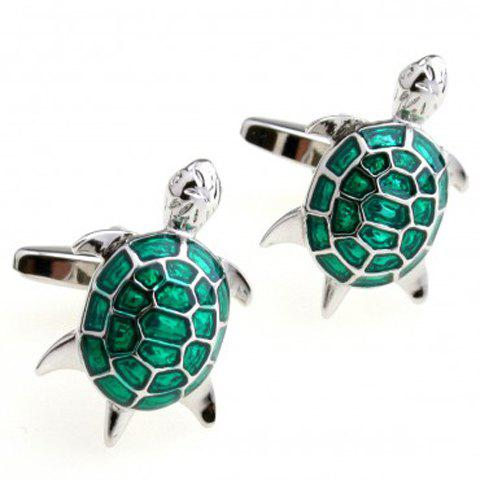 Pair of High Quality Animal Shape Men's Cufflinks - GREEN
