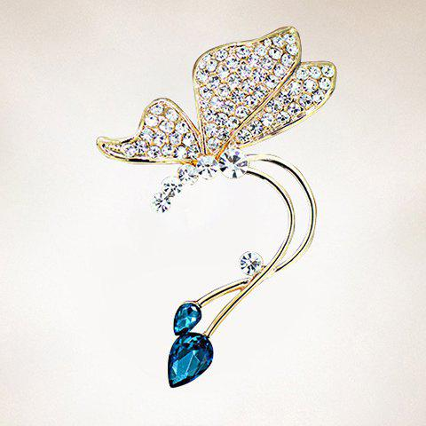ONE PIECE Rhinestone Butterfly Ear Cuff one piece stylish women s rhinestone cross ear cuff