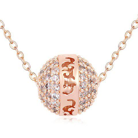 Retro Style Ball Shape Women's Pendant Necklace - RANDOM COLOR