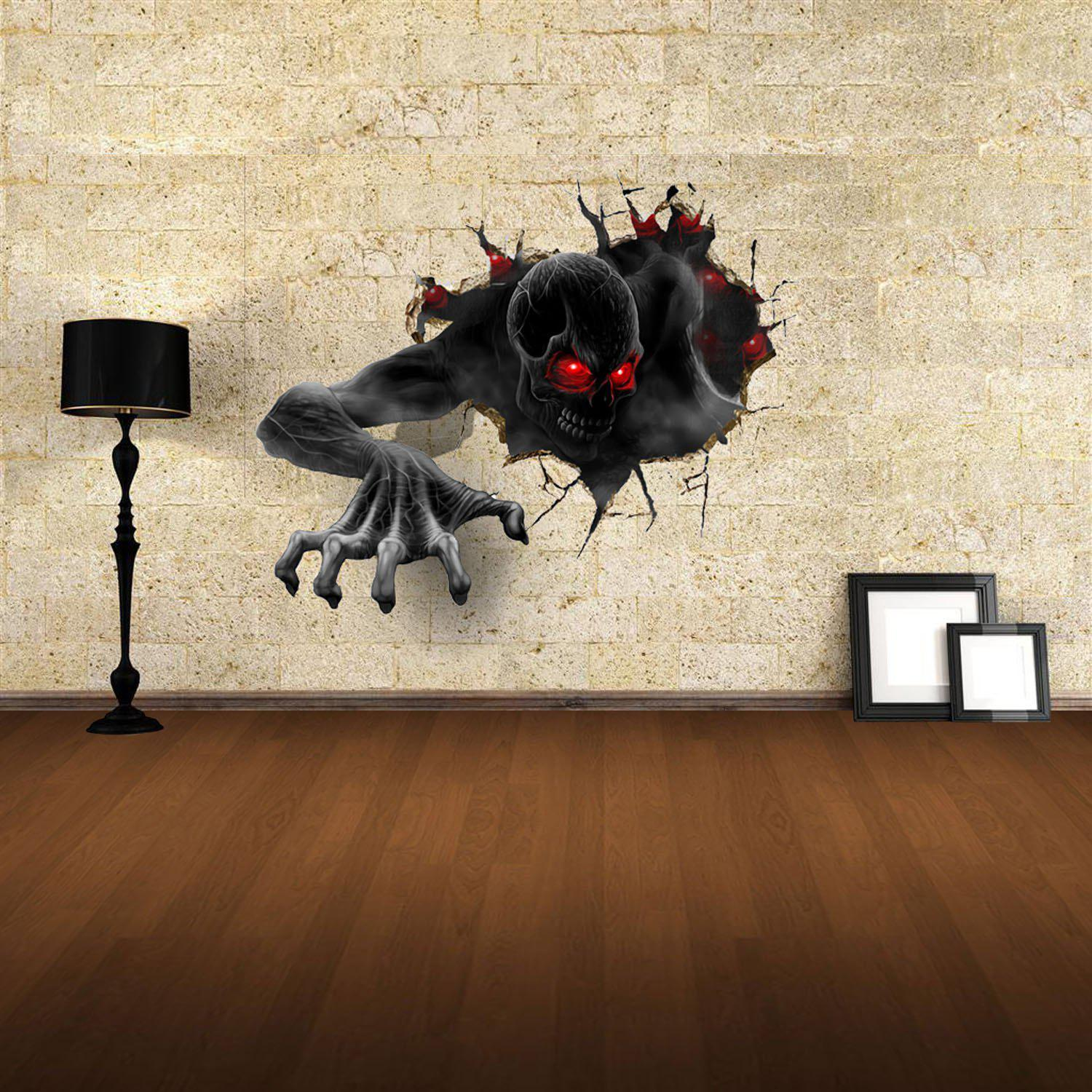Superbe 3D Wall Stickers Devil Style Wall Decals Home Appliances Decor   COLORFUL