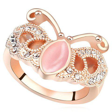 Luxurious Faux Opal Butterfly Shape Women's Ring