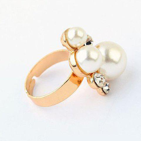 Trendy Faux Pearl Decorated Women's Ring