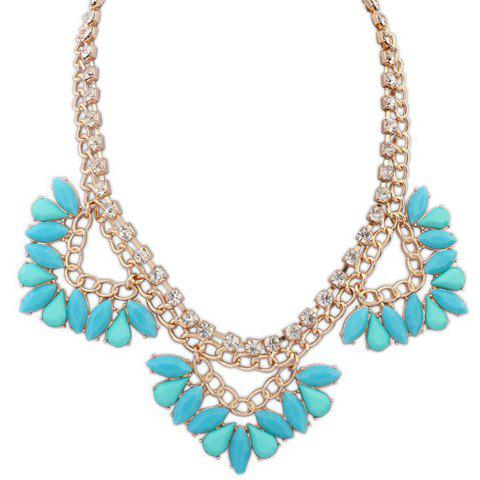 Chic Beads Geometric Shape Necklace For Women -  BLUE