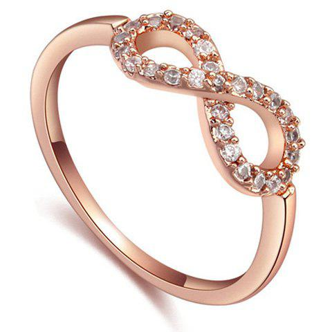 Openwork Bowknot Rhinestone Chic Ring For Women - ROSE GOLD ONE-SIZE