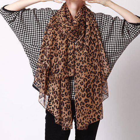 Charming Leopard Pattern Gauzy Scarf For Women