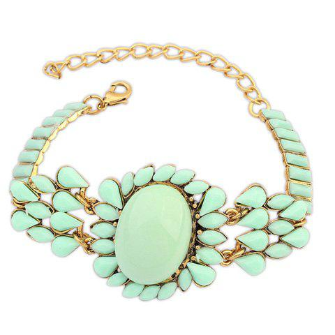 Stylish Bohemian Faux Gem Inlaid  Floral and Multi-Layered  Water Drop Women's Fluorescent Bracelet - RANDOM COLOR