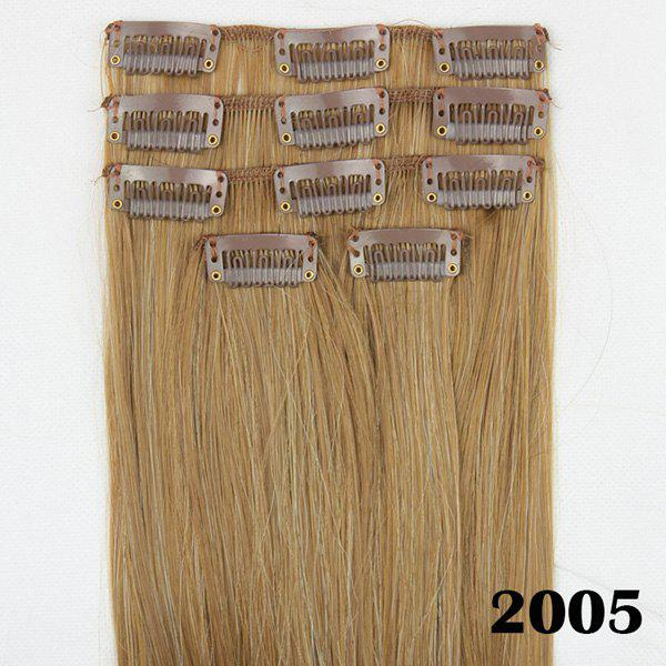 Trendy Bright Honey Blonde Long Silky Straight Charming Heat Resistant Synthetic Women's Hair Extension - GOLDEN