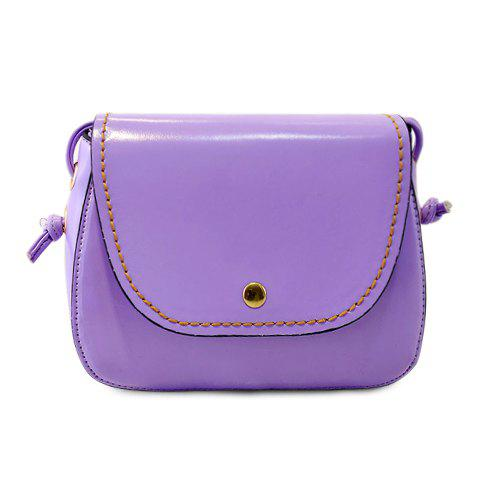 Laconic Stitching and Cover Design Crossbody Bag For Women - PURPLE