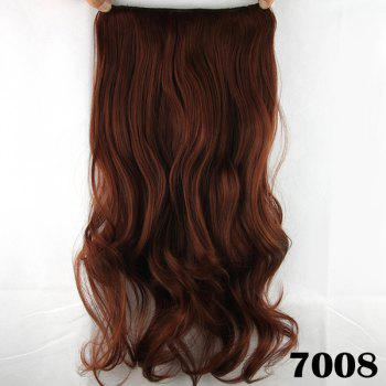 Stylish Long Wavy Reddish Charming Heat Resistant Synthetic Women's Hair Extension - BROWN BROWN