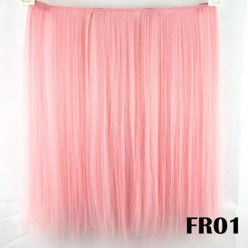 Stylish Long Straight Pink Charming Heat Resistant Synthetic Women's Hair Extension - PINK PINK