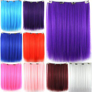 Stylish Long Straight Pink Charming Heat Resistant Synthetic Women's Hair Extension -  PINK
