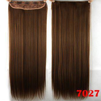 Stylish Long Straight Light Brown Charming Heat Resistant Synthetic Women's Hair Extension