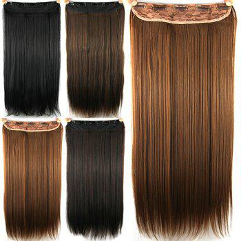 Stylish Long Straight Light Brown Charming Heat Resistant Synthetic Women's Hair Extension - LIGHT BROWN