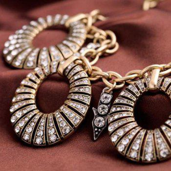 Fashionable Rhinestone Embellished Hollow Out Round Shape Necklace For Women -  AS THE PICTURE