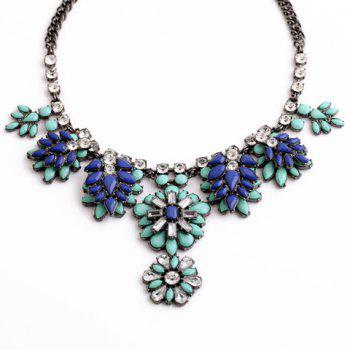 Chic Rhinestone Embellished Floral Shape Women's Necklace -  AS THE PICTURE