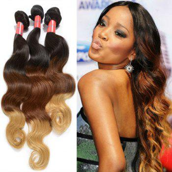 Attractive 22 Inch Body Wave 7A Brazilian Virgin Hair Women's Ombre Human Hair Weft