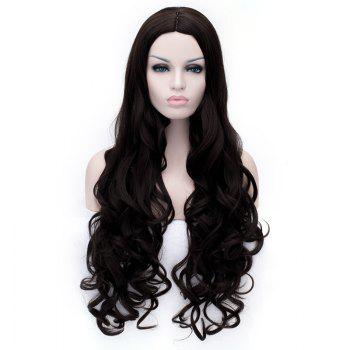 Ladylike Long Deep Wavy Towheaded Women's Heat Resistant Synthetic Wig -  LIGHT BROWN