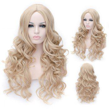 Prevailing Linen Heat Resistant Synthetic Deep Wavy Fluffy Women's Long Hair Wig - FLAX FLAX