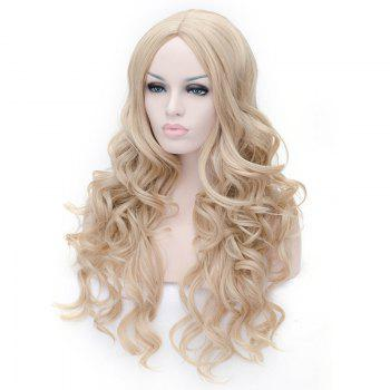 Prevailing Linen Heat Resistant Synthetic Deep Wavy Fluffy Women's Long Hair Wig -  FLAX