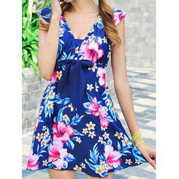 Fashionable Floral Print One-Piece Slimming Women's Swimsuit