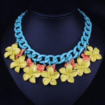 Sweet Flowers Colored Necklace For Women