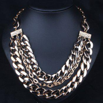 Chic Link Layered Design Necklace For Women