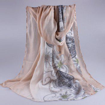 Chic Retro Pattern Gradient Color Women's Voile Scarf