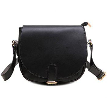 Sweet Candy Color and Buckle Design Crossbody Bag For Women