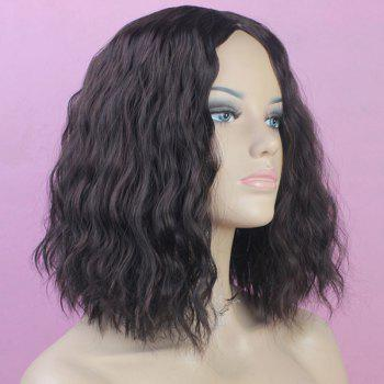 Western Style Fluffy Light Brown Medium Deep Wavy Kanekalon Women's Synthetic Wig -  LIGHT BROWN