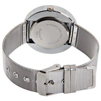 Paidu Rotational Round Dial Japan Quartz Watch Steel Net Band for Men -  SILVER