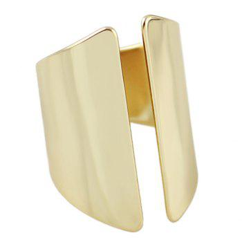 Hollow Out Geometric Design Ring - GOLDEN ONE-SIZE