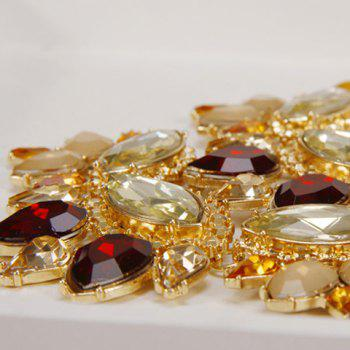Faux Gem Decorated Double Layered Necklace - ORANGE