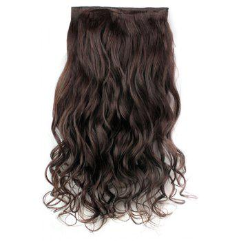 Trendy Heat Resistant Synthetic Clip-In Dark Brown Long Curly Women's Hair Extension
