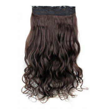 Trendy Heat Resistant Synthetic Clip-In Dark Brown Long Curly Women's Hair Extension -  DEEP BROWN