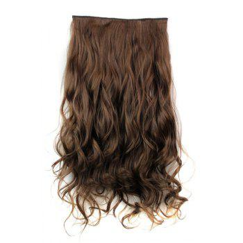 Trendy Heat Resistant Synthetic Clip-In Light Brown Long Curly Women's Hair Extension