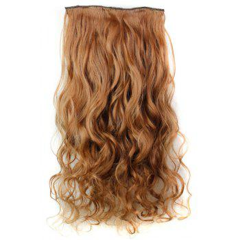 Trendy Heat Resistant Synthetic Clip-In Reddish Brown Long Curly Women's Hair Extension - BROWN BROWN