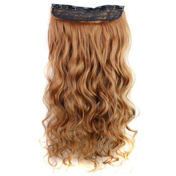 trendy heat resistant synthetic clip in reddish brown long