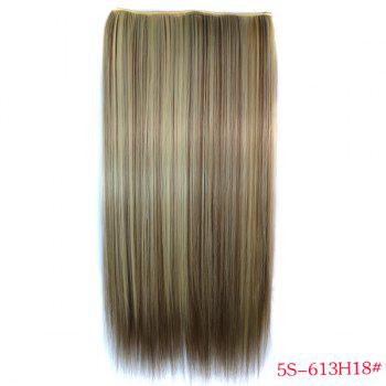 Trendy Long Straight Clip-In Heat Resistant Synthetic 613H18 Women's Hair Extension - COLORMIX COLORMIX