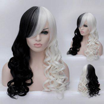 Non-mainstream Assorted Colors Long Deep Wavy Women's Synthetic Wig With Face Side Bang