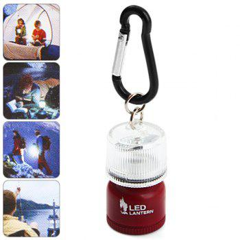 Multi-use LED 2 Modes Mini Lantern Backpack Buckle Carabiner Camping Cycling Hiking Gadget - RED RED