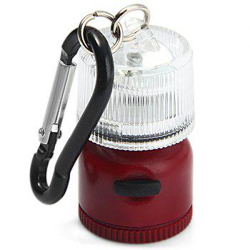 Multi-use LED 2 Modes Mini Lantern Backpack Buckle Carabiner Camping Cycling Hiking Gadget -  RED