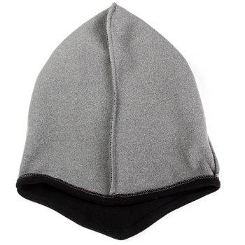 OUTFLY Keep Warm Windproof Skiing Hat Wrapped Head Cap for Winter Outdoor Activities -  BLACK/GREY