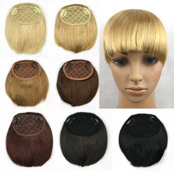 Charming Dark Black Straight Short Heat Resistant Synthetic Neat Bang For Women -